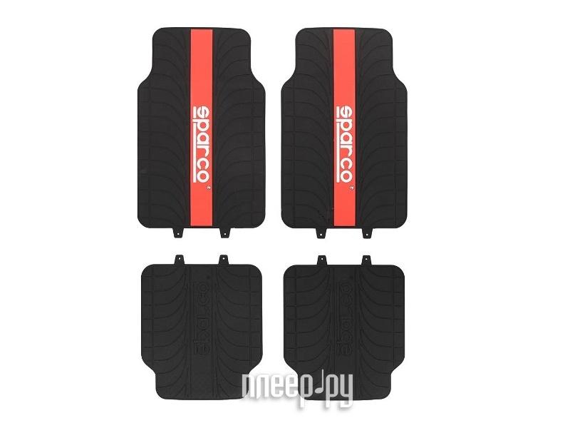 Коврик Sparco Racing SPC/RCN-504 BK/RD Black-Red  Pleer.ru  1098.000