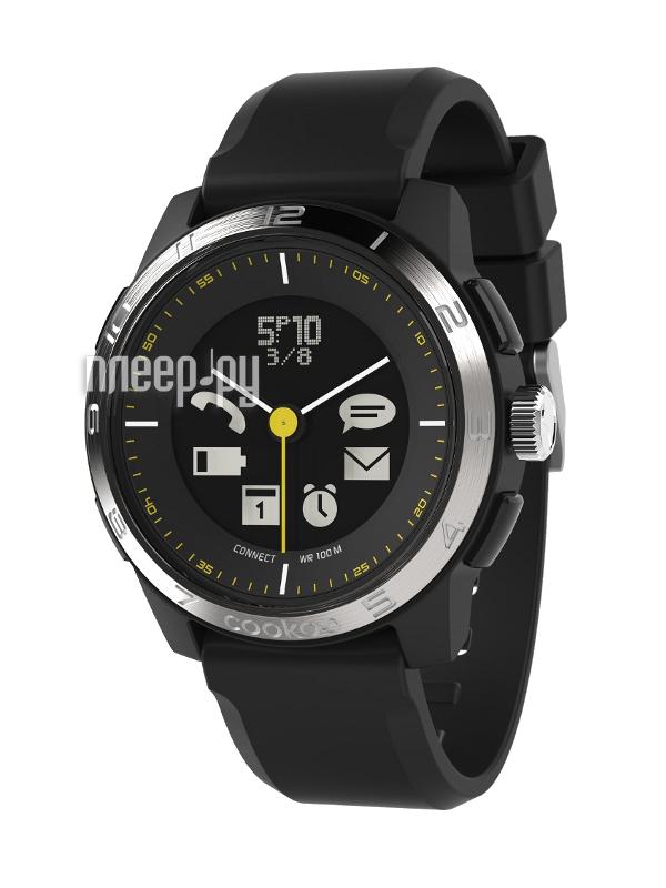 Умные часы Cookoo Watch Sporty Chic Version 2 CK2.0-002-01 Black-Silver  Pleer.ru  6101.000