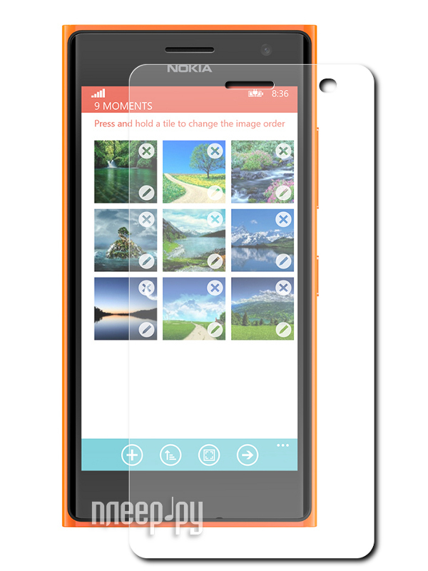 Аксессуар Защитная пленка Nokia Lumia 730 / 735 Red Line  Pleer.ru  528.000