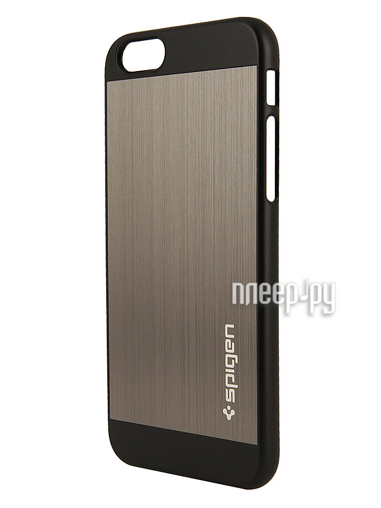 Аксессуар Чехол SGP Aluminum Fit (PET) 4.7-inch for iPhone 6 Space Grey SGP10948  Pleer.ru  1599.000