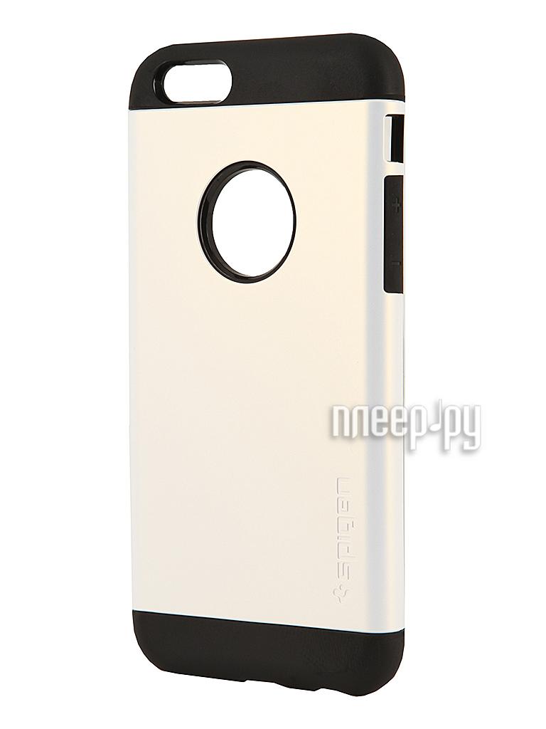 Аксессуар Чехол SGP Slim Armor Series 4.7-inch for iPhone 6 Shimmery White SGP10957  Pleer.ru  1650.000