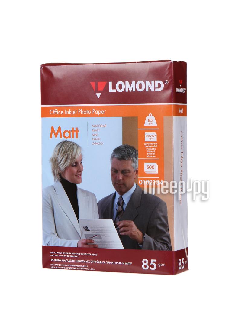 Фотобумага Lomond 0102134 матовая 85г/м2 A4 500 листов  Pleer.ru  758.000