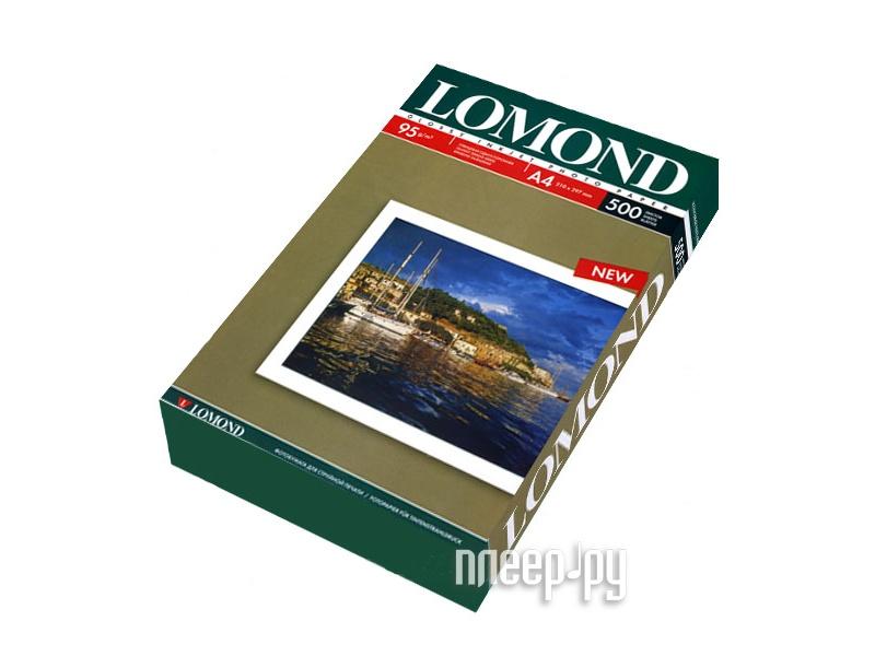 Фотобумага Lomond 0102146 глянец 85г/м2 A4 500 листов  Pleer.ru  1211.000