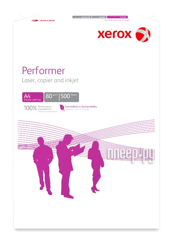 Бумага XEROX Performer 003R90649 80г/м2 500 листов  Pleer.ru  340.000