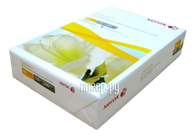 Бумага XEROX Colotech+ 003R98847 120г/м2 500 листов  Pleer.ru  587.000