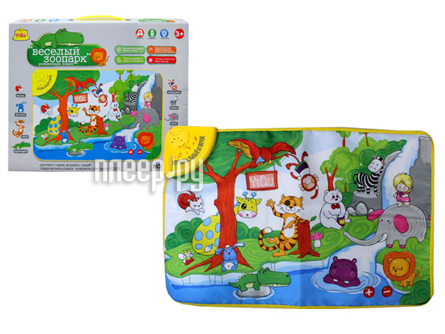 Развивающий коврик Shantou Gepai Веселый зоопарк YQ2979  Pleer.ru  414.000
