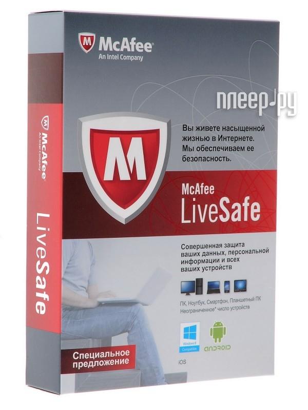 Программное обеспечение McAfee LiveSafe Promo BOX BOXMLS139001RAA  Pleer.ru  389.000
