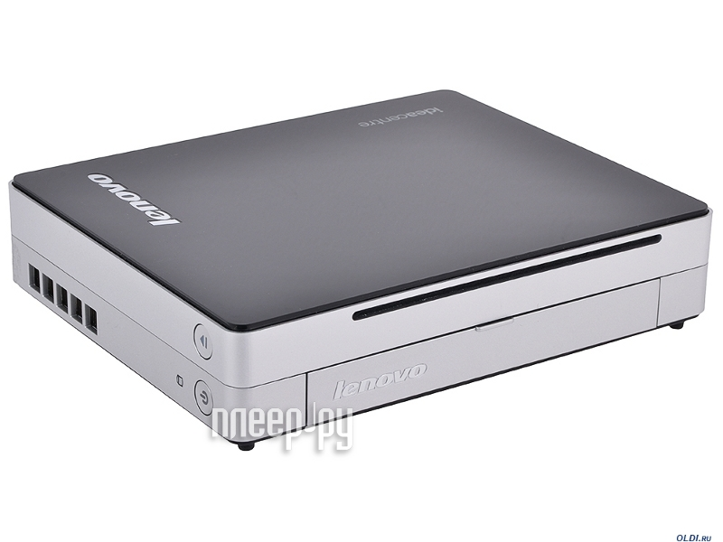 Неттоп Lenovo IdeaCentre Q190 57316616 Black-Silver (Intel Pentium 2127U 1.9 GHz/8192Mb/500Gb/DVD-RW/Intel HD Graphics/GBLan+WiFi/Windows 8)  Pleer.ru  24427.000