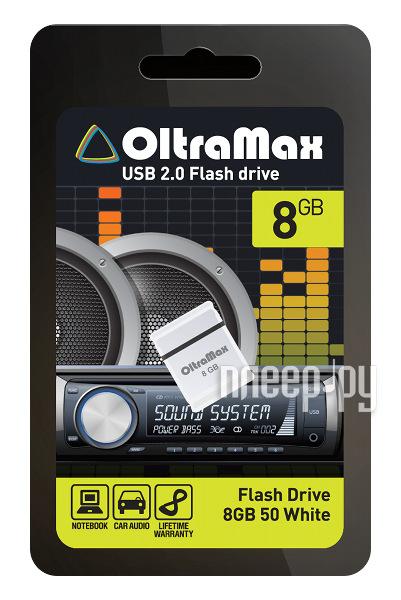 USB Flash Drive 8Gb - OltraMax 50 White OM008GB-mini-50-W