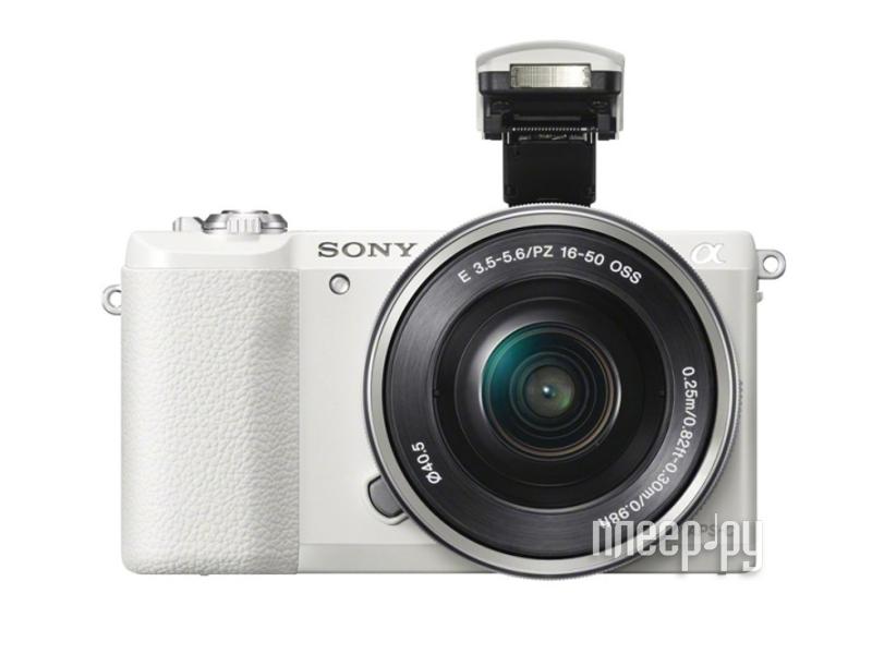 Фотоаппарат Sony Alpha A5100 Kit 16-50 mm F / 3.5-5.6 E OSS PZ White