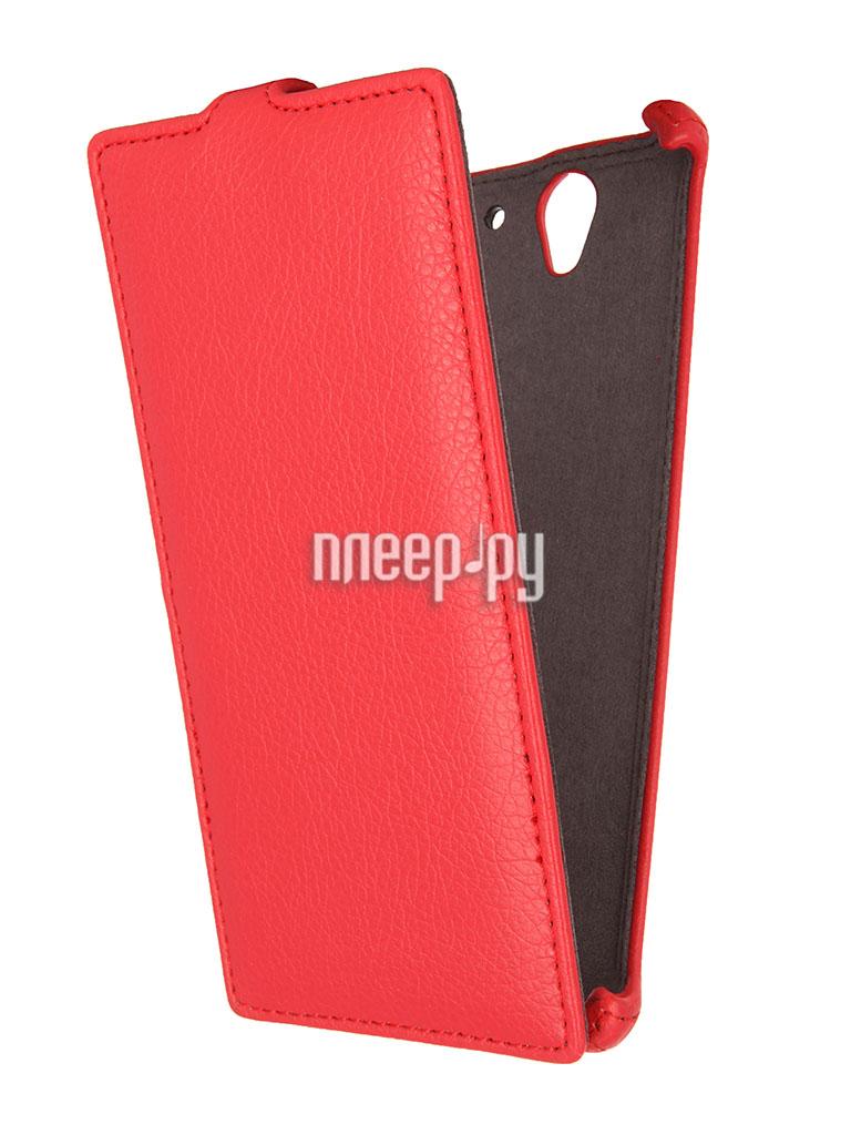 Аксессуар Чехол Sony Xperia C3 D2502 Gecko Red  Pleer.ru  1000.000