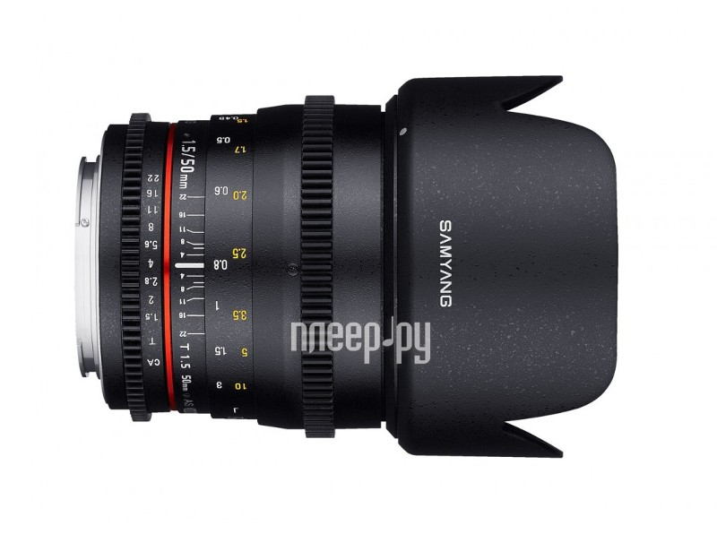 Объектив Samyang Canon 50 mm T1.5 AS UMC VDSLR  Pleer.ru  21515.000