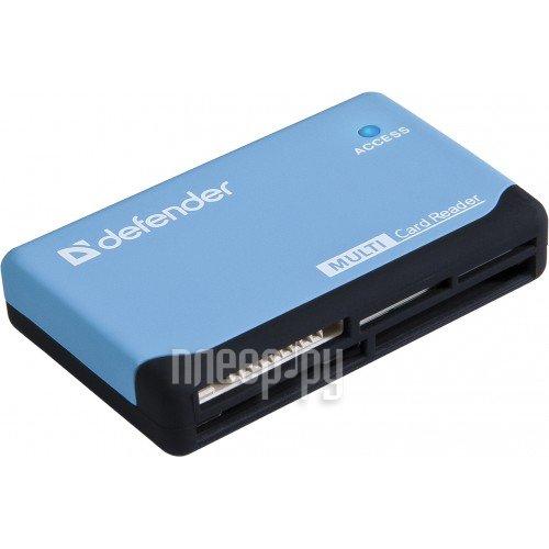 Карт-ридер Defender Ultra USB 2.0 Black-Blue 83500