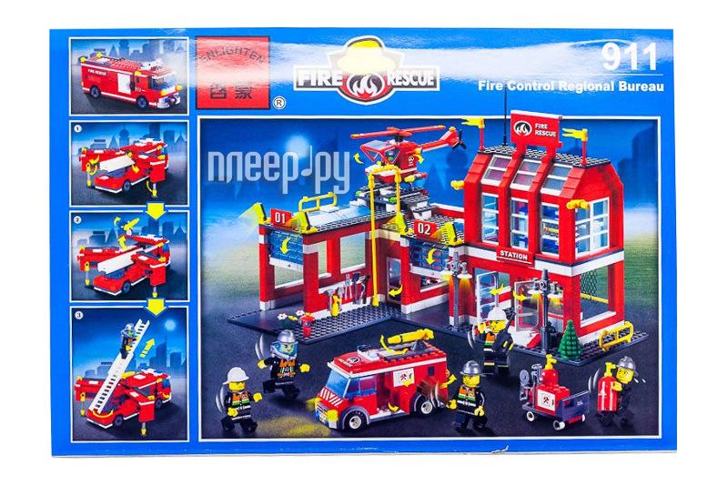 Конструктор Brick Пожарная станция 911  Pleer.ru  2511.000