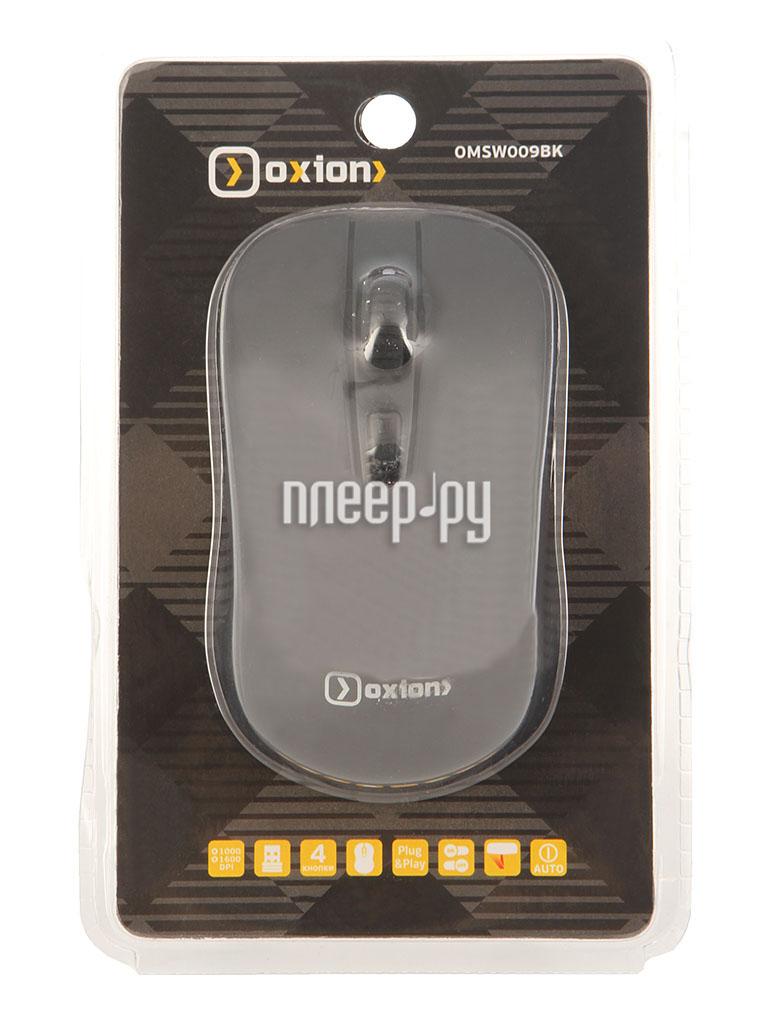 Мышь беспроводная Oxion OMSW009BK Black USB  Pleer.ru  202.000