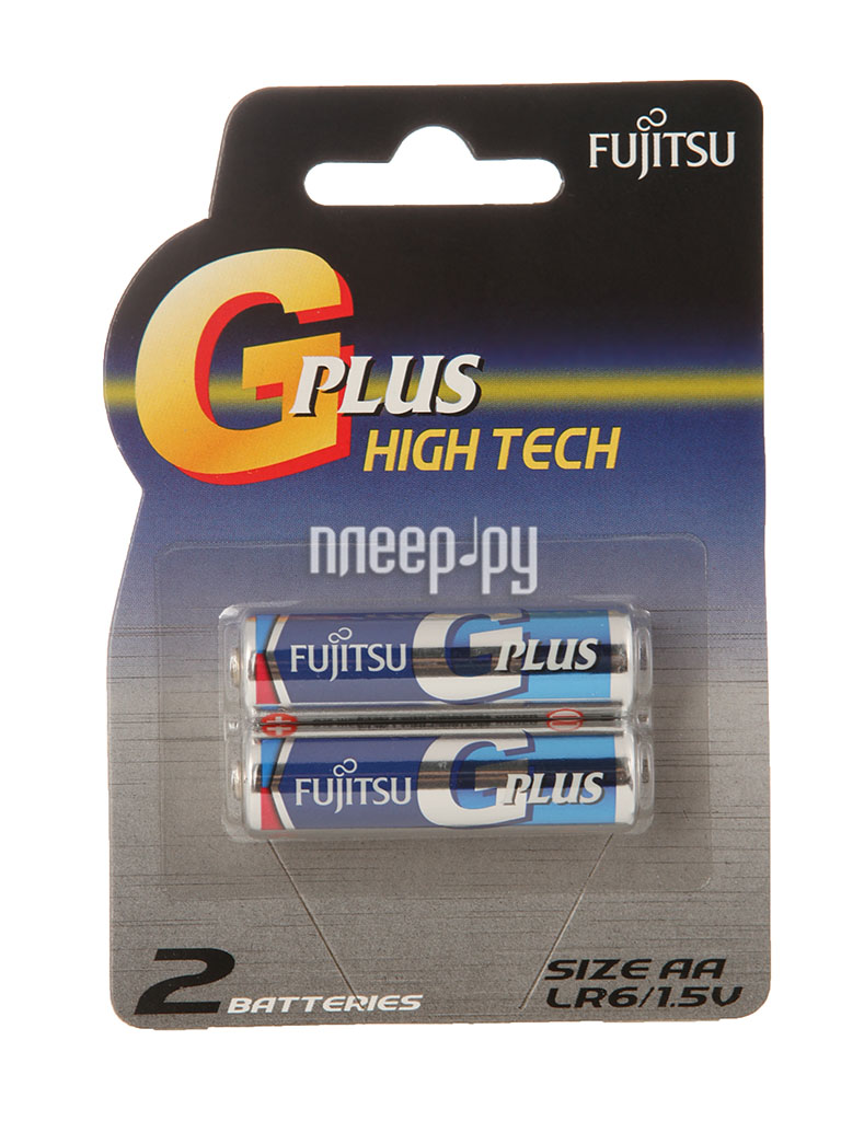 Батарейка AA - Fujitsu LR6GPLUS/2B Alkaline G Plus (2 штуки)