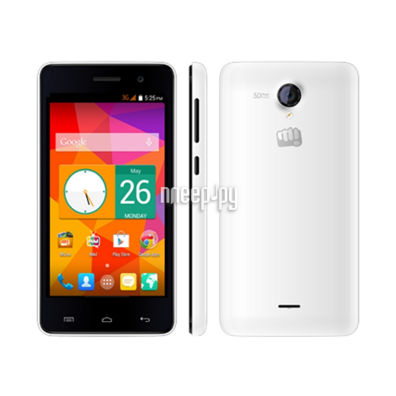 Купить Сотовый телефон Micromax A106 Unite 2 White за 4629.000 рублей - Flagmansale - Сотовые телефоны