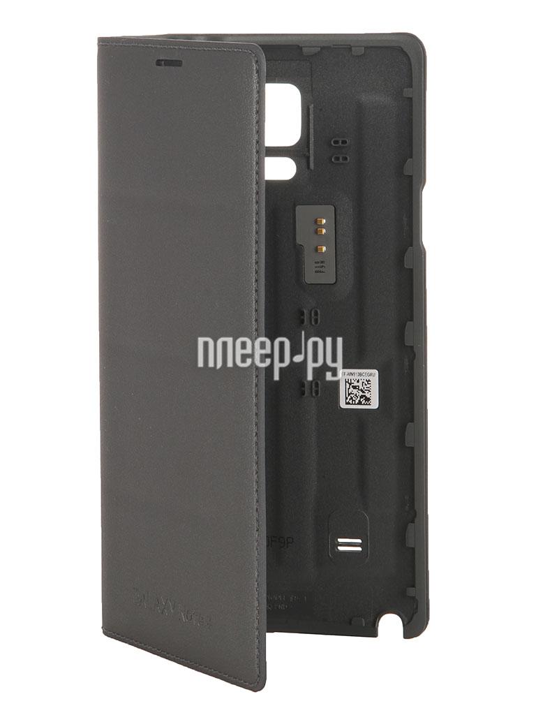 Аксессуар Чехол Samsung SM-N910 Galaxy Note 4 Flip Wallet EF-WN910BCEGRU Black  Pleer.ru  1655.000