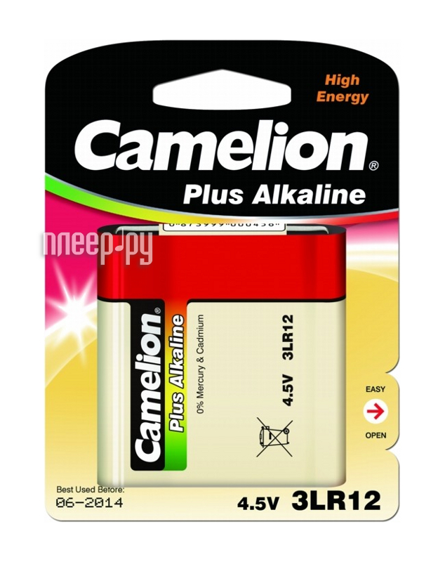 Camelion Plus Alkaline 3LR12 3LR12-BP1 (1 штука)  Pleer.ru  98.000