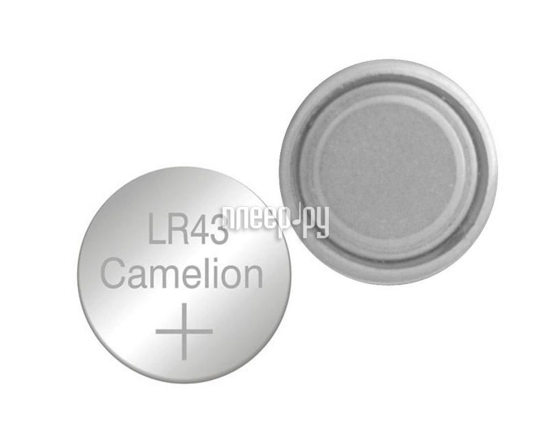 Батарейка Camelion LR43 G12 BL-10 AG12-BP10 (1 штука)