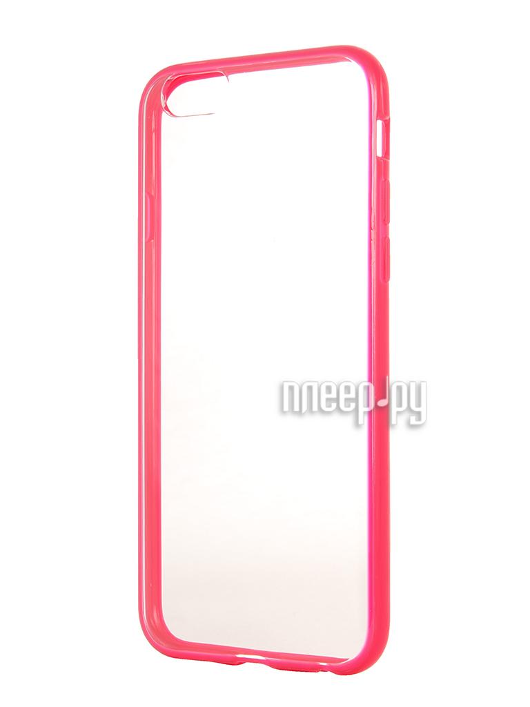 Аксессуар Чехол Ainy for iPhone 6 Transparent Pink QF-A018D  Pleer.ru  930.000