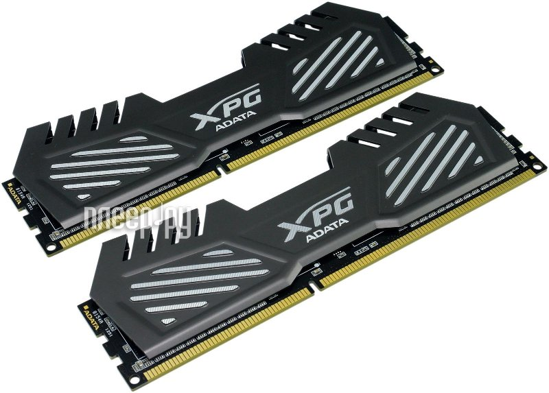 Модуль памяти A-Data XPG V2 PC3-19200 DIMM DDR3 2400MHz CL11 - 8Gb KIT (2x4Gb) AX3U2400W4G11-DMV Dark Grey  Pleer.ru  4125.000