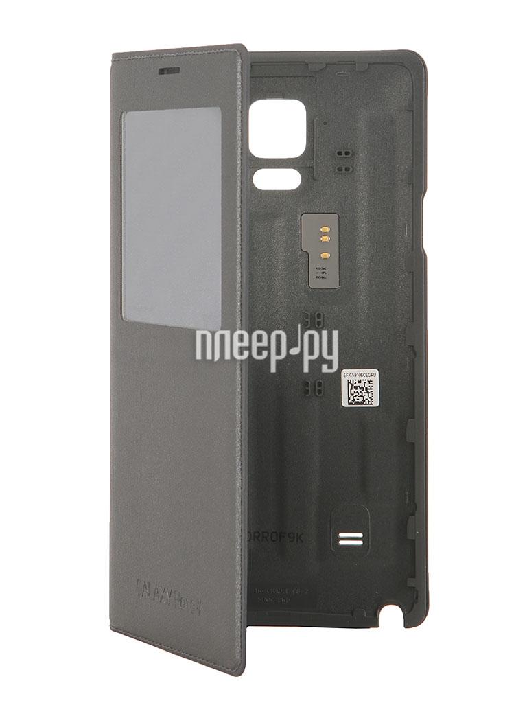 Аксессуар Чехол Samsung GT-N910 Galaxy Note 4 S-View EF-CN910BCEGRU Black  Pleer.ru  2094.000