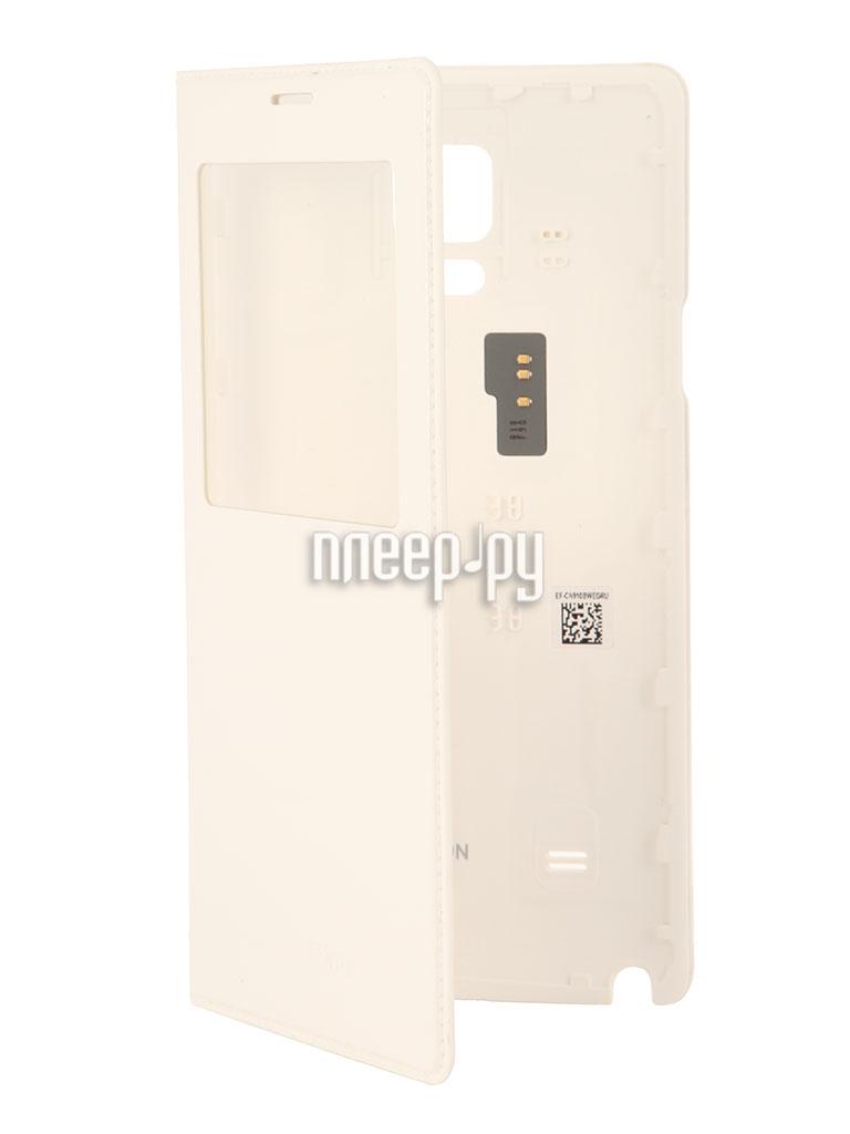 Аксессуар Чехол Samsung GT-N910 Galaxy Note 4 S-View EF-CN910BWEGRU White  Pleer.ru  2094.000