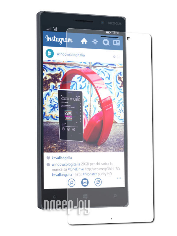 Аксессуар Защитная пленка Nokia Lumia 830 Ainy глянцевая  Pleer.ru  534.000