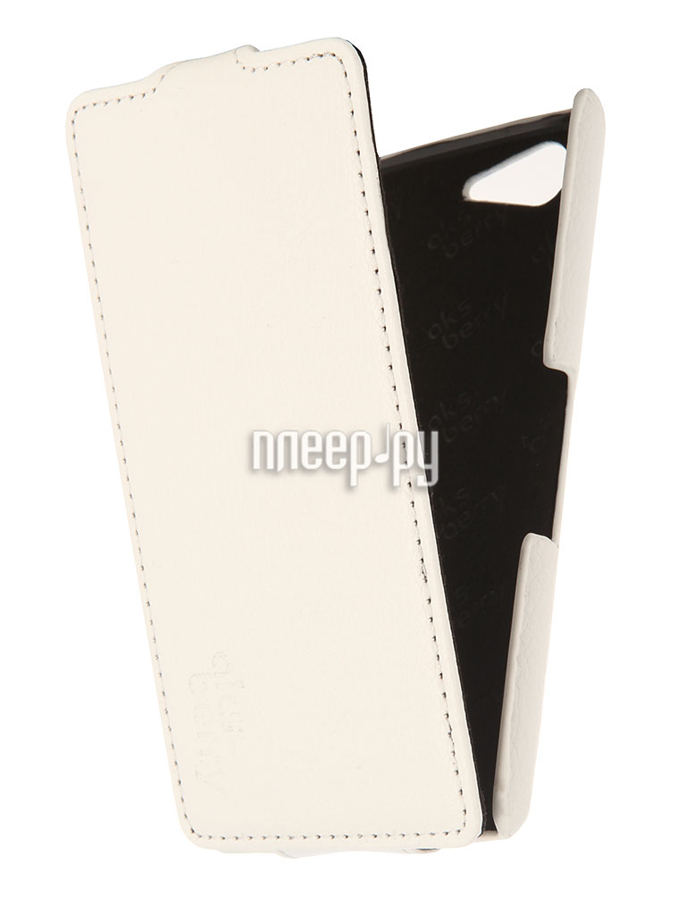 Аксессуар Чехол Sony Xperia E3 Aksberry White  Pleer.ru  1129.000