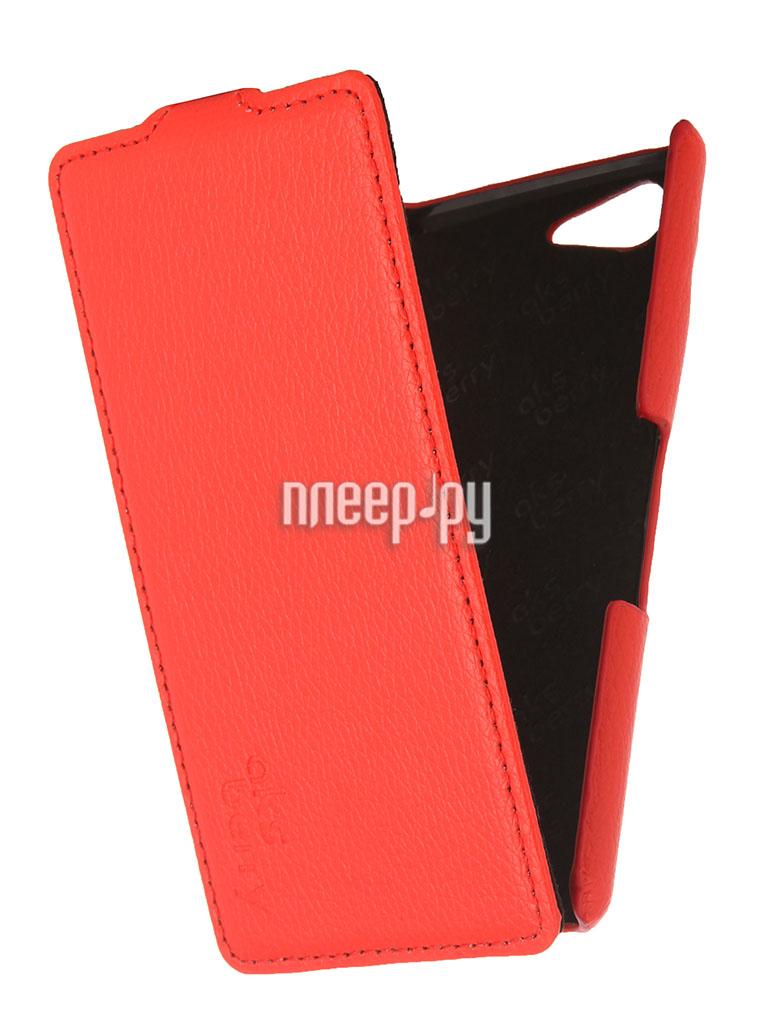 Аксессуар Чехол Sony Xperia E3 Aksberry Red  Pleer.ru  1129.000