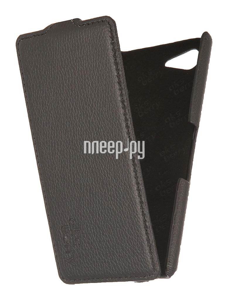 Аксессуар Чехол Sony Xperia E3 Aksberry Black  Pleer.ru  1129.000