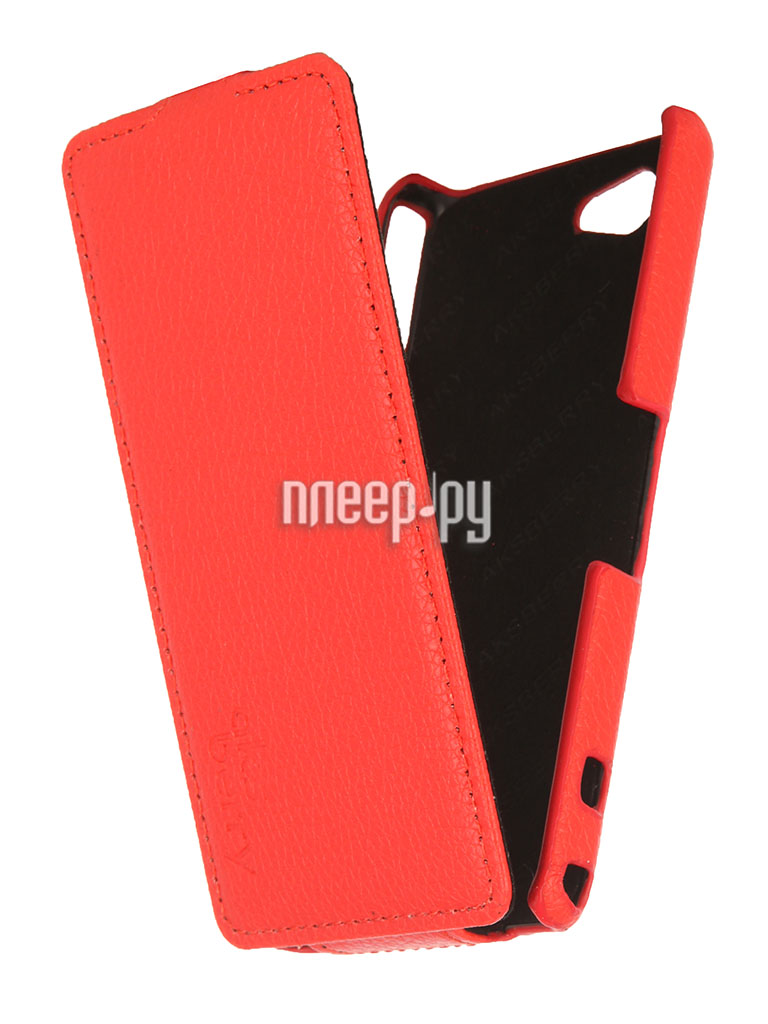 Аксессуар Чехол Sony Xperia Z1 mini / Compact Aksberry Red  Pleer.ru  1129.000
