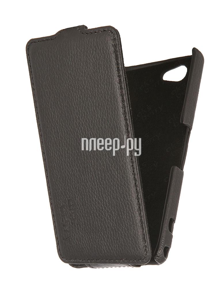 Аксессуар Чехол Sony Xperia Z1 mini / Compact Aksberry Black  Pleer.ru  1129.000