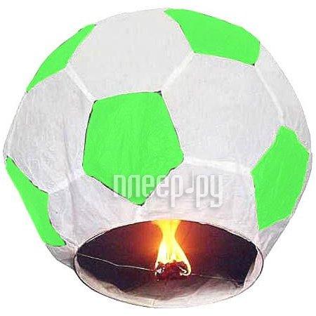Небесный фонарик Эврика Фонарь желаний Футбольный мячь Green-White 93489  Pleer.ru  230.000