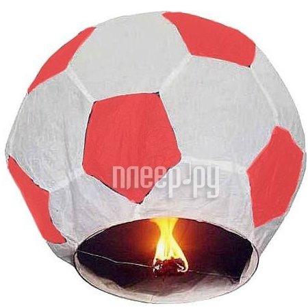 Небесный фонарик Эврика Фонарь желаний Футбольный мячь Red-White 93488  Pleer.ru  230.000