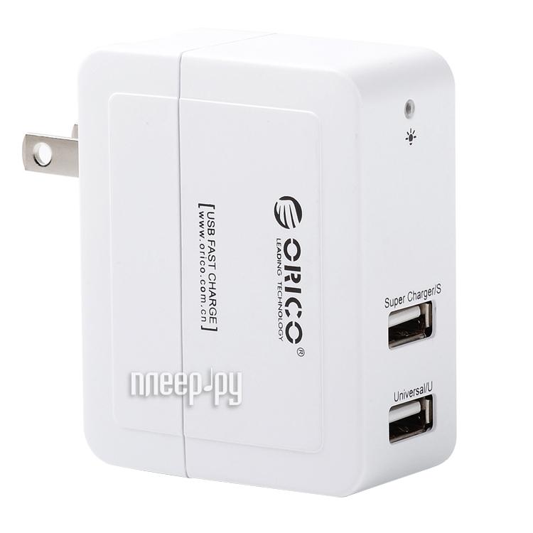 Зарядное устройство Orico DCX-2U White  Pleer.ru  935.000