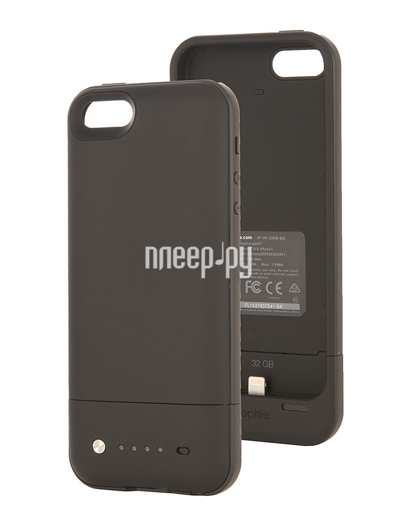 Аккумулятор Mophie Space Pack 32Gb for iPhone 5 / 5S Black  Pleer.ru  7499.000