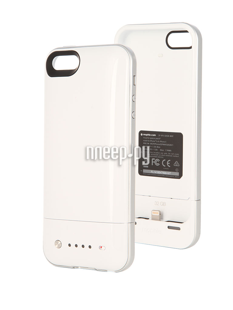 Аккумулятор Mophie Space Pack 32Gb for iPhone 5 / 5S White  Pleer.ru  7499.000
