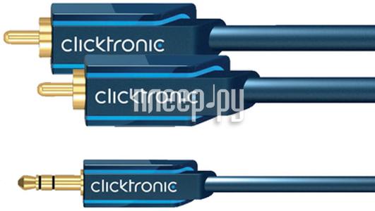Аксессуар Clicktronic Jack 3.5 to 2RCA Casual 1m 70465  Pleer.ru  729.000