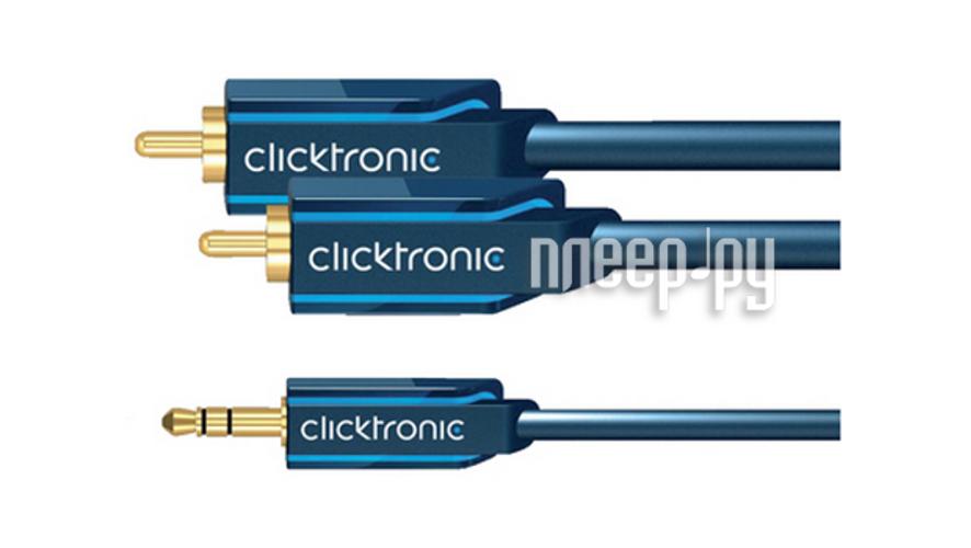 Аксессуар Clicktronic Jack 3.5 to 2RCA Casual 3m 70468  Pleer.ru  871.000