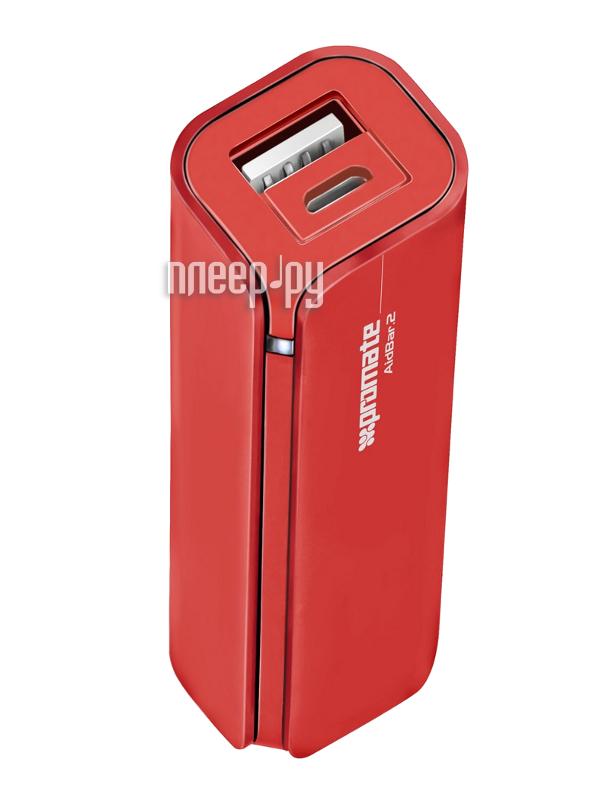 Аккумулятор Promate aidBar-2 2500mAh Red