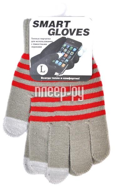 Теплые перчатки для сенсорных дисплеев Beewin BW-06GRY L Grey