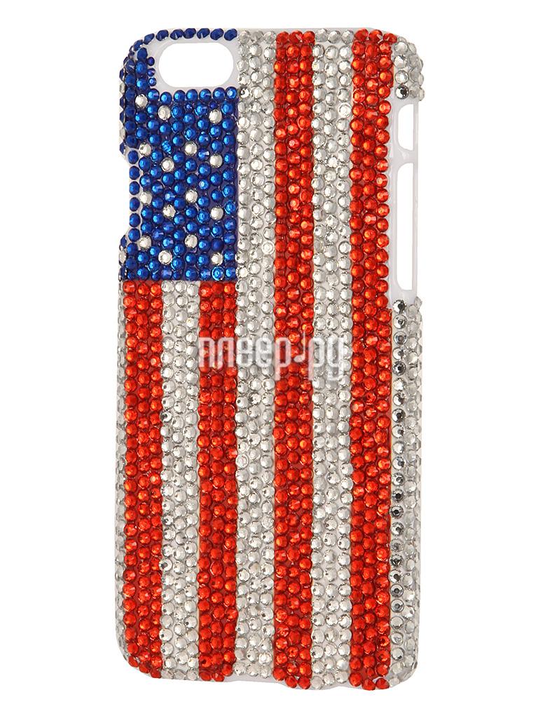 Аксессуар Защитная крышка Liberty Project со стразами для iPhone 6 USA