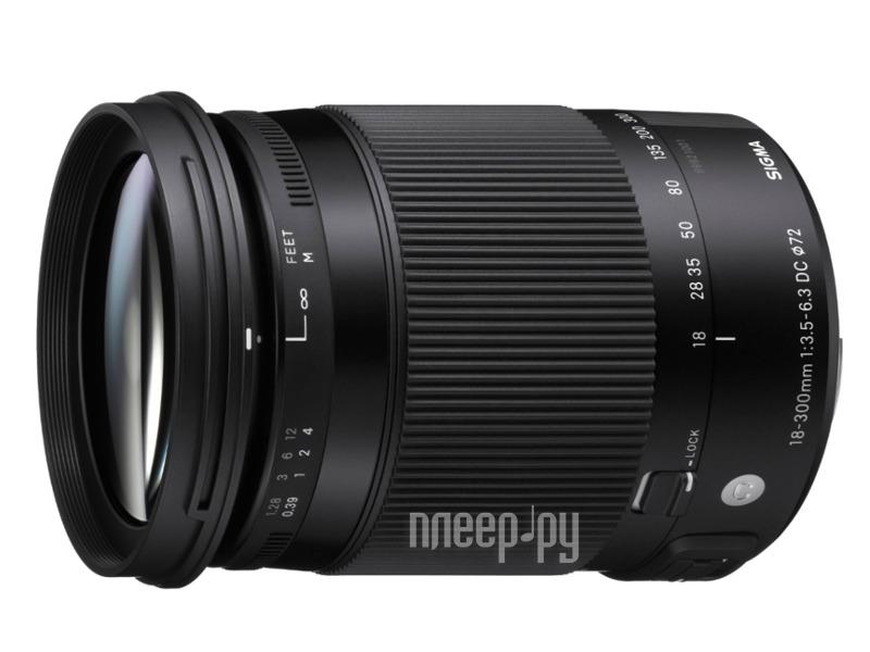 Объектив Sigma Nikon AF 18-300 mm F / 3.5-6.3 DC Macro OS HSM Contemporary