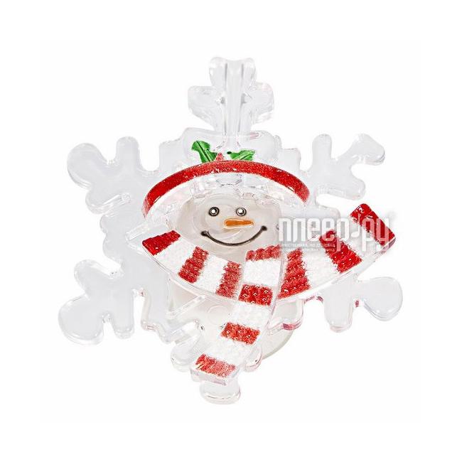 Новогодний сувенир Neon-Night Снежинка со снеговиком 501-021