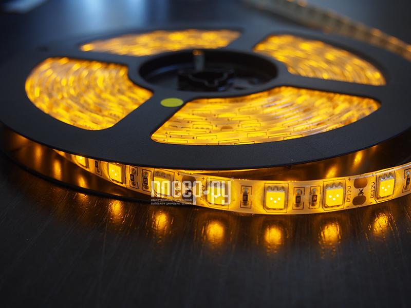 Светодиодная лента Neon-Night SMD 3528 60led/m 12V 24W 5m IP23 Yellow 141-332-0