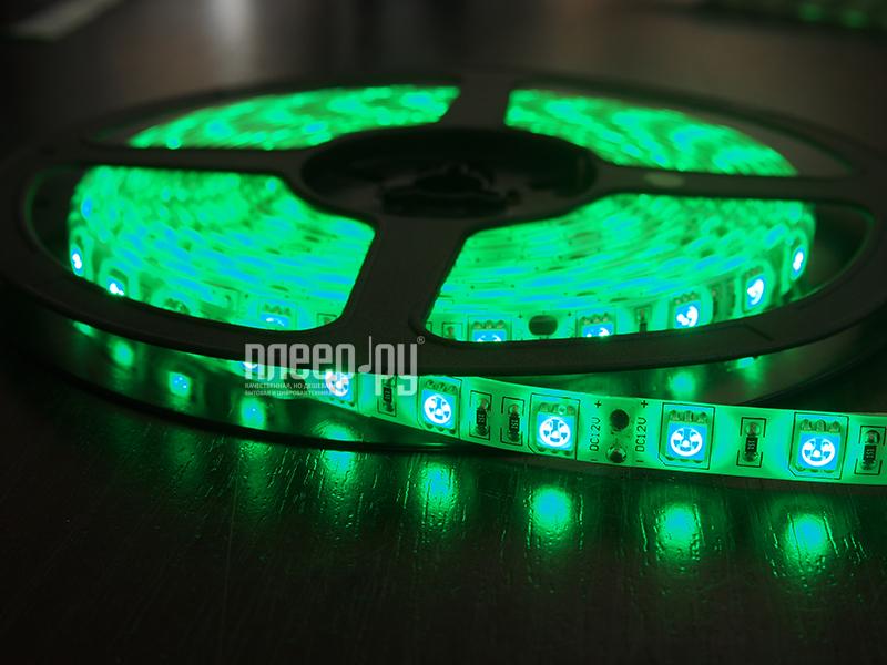 Светодиодная лента Neon-Night SMD 3528 60led/m 12V 24W 5m IP23 Green 141-334-0