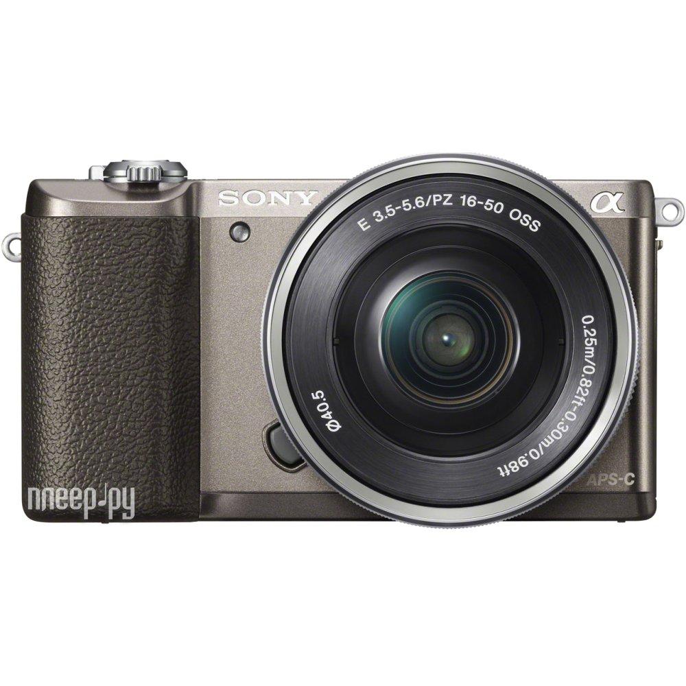 Фотоаппарат Sony Alpha A5100 Kit 16-50 mm F / 3.5-5.6 E OSS PZ Brown