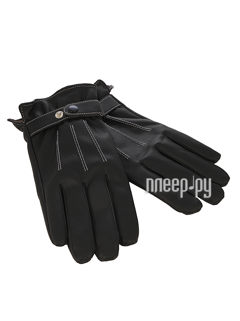 Теплые перчатки для сенсорных дисплеев iCasemore искуственная кожа р.UNI Black